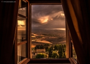 Questa foto l&#39;ho fatta dalla mia camera d&#39;albergo a Pienza, a settembre scorso.</p>